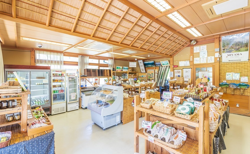 Miyama thatched village souvenir shop